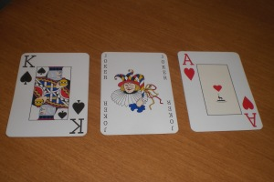 Offason Anglo : KoS, Joker (color), Ace of Hearts w/ Anglo Logo