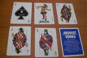 Absolut : Aos, Joker, Court Cards, Ad Card