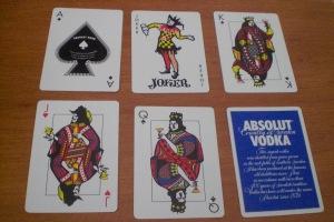 Absolut : Aos, Joker, Court Cards, Ad Card
