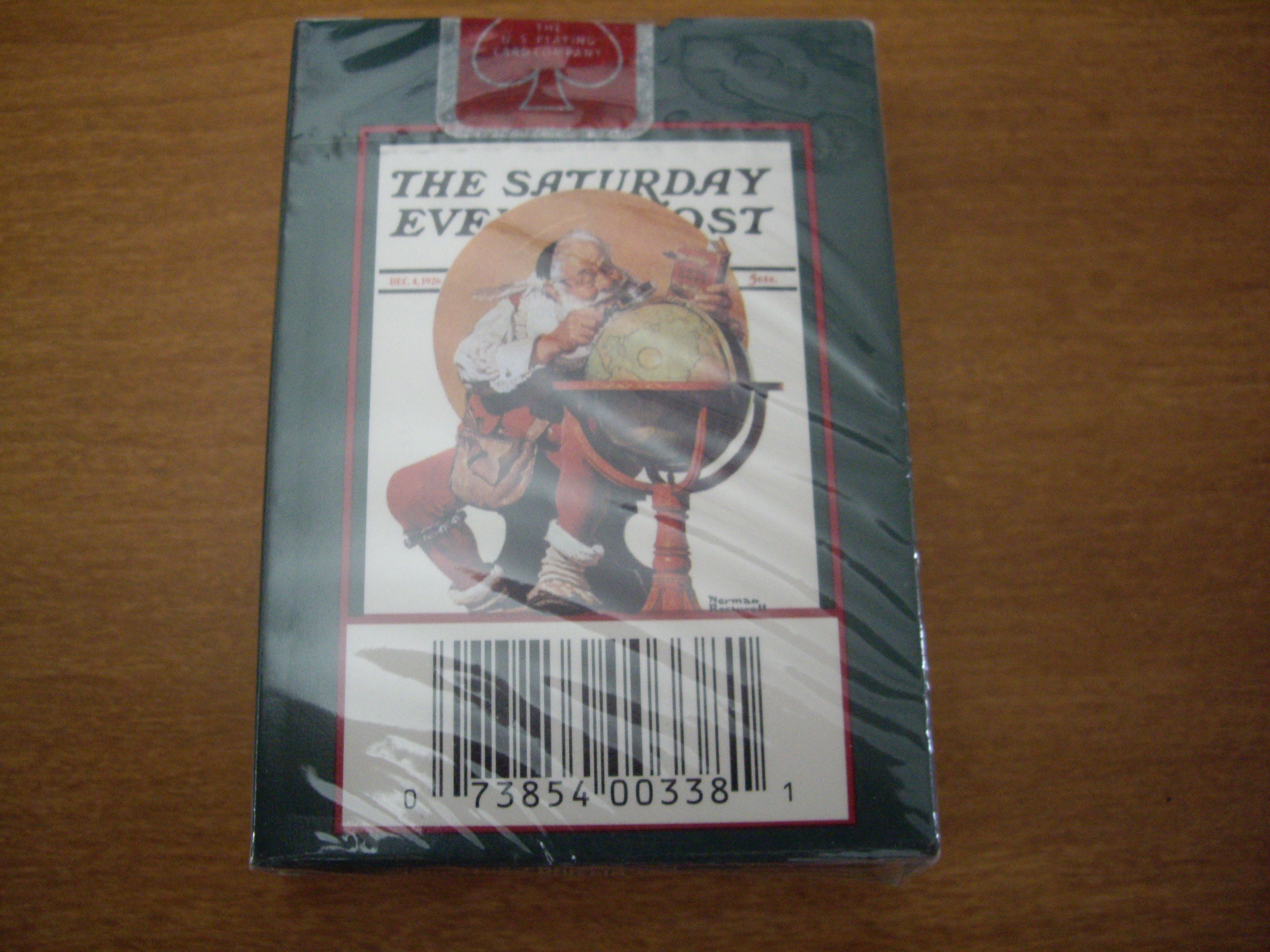 Norman Rockwell Saturday Evening Post Christmas Playing Cards United States Playing Card Company