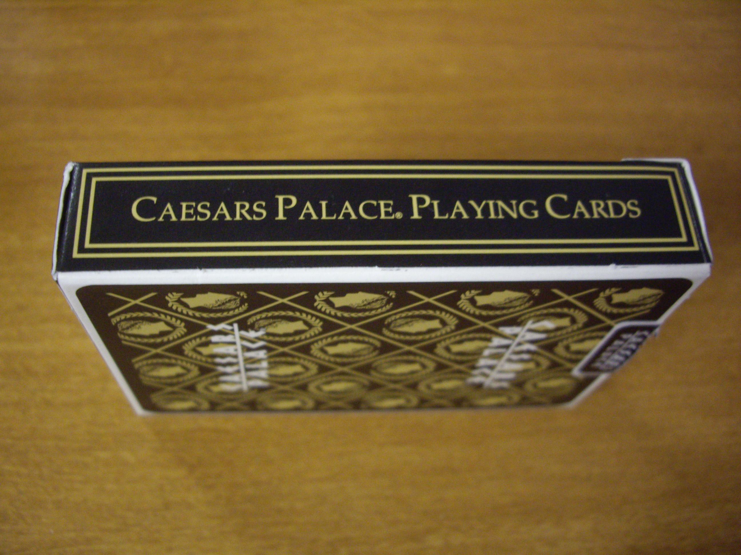 CAESARS PALACE CASINO PLAYING CARDS POKER SIZE REGULAR INDEX LINEN FINISH SEALED