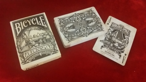 Golden Spike Playing Cards