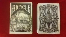 Front: Bicycle Golden Spike Playing Cards